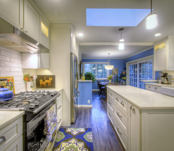 kitchen with view of stove