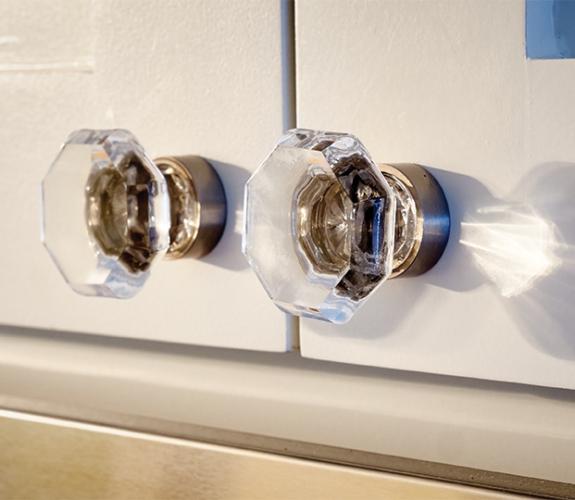 cabinet knobs closeup