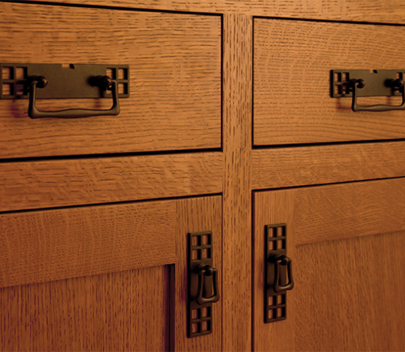 cabinetry and hardware close up